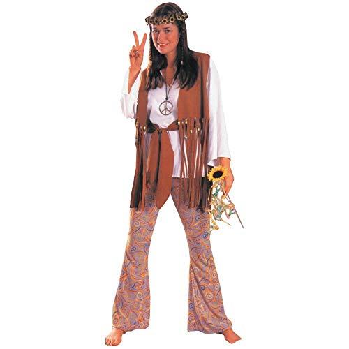MCS Rubie 's Costume Co STD Größe (6-14)-Love Child Erwachsene Hippie Kostüm (Genickstück und Peace Halskette Nicht im Lieferumfang enthalten) (Hippie Love Child Kostüm)