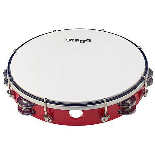 STAGG TAB 212P/RD 12 TUNABLE PLASTIC TAMBOURINE  2 ROWS   RED