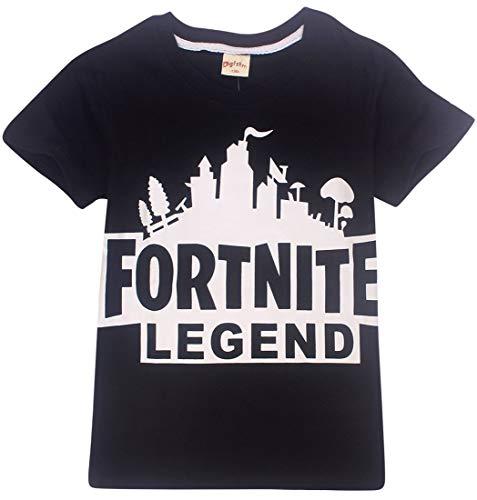 EMILYLE Garçon T-Shirt Fortnite Enfant Jeux Vidéo Top d'été Geek Battle Royale...