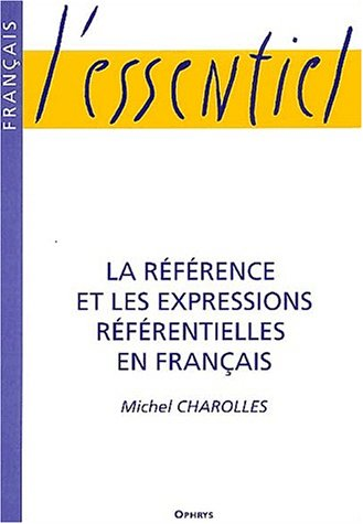 Reference et expressions referentielles