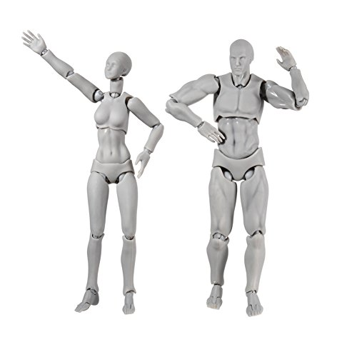 A Pair of Action Figure Model, S...
