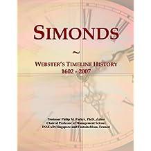 Simonds: Webster's Timeline History, 1602 - 2007