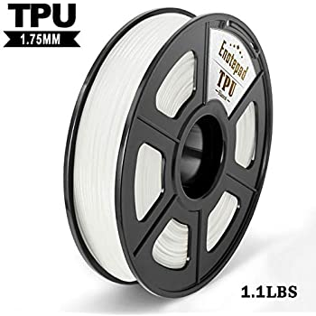 TPU 3D Printer Filament,Flexible Filament 1.75mm,Dimensional Accuracy +/- 0.02mm Tolerance,High-Elastic&Non-Toxic Material,Enotepad White TPU