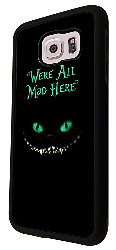 784-were-all-mad-here-scary-cat-design-samsung-galaxy-s6-i9700-hulle-fashion-trend-case-back-cover-m