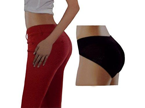 S&LU Damen Push-Up Slip/ Panty Polsterhose mit einem klasse Push-Up-Effekt Hautfarbe