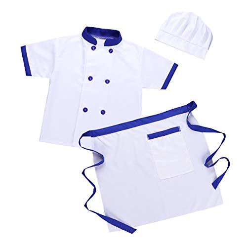 Iiniim Unisex Niño Niña Disfraz Chef Cocinero Traje