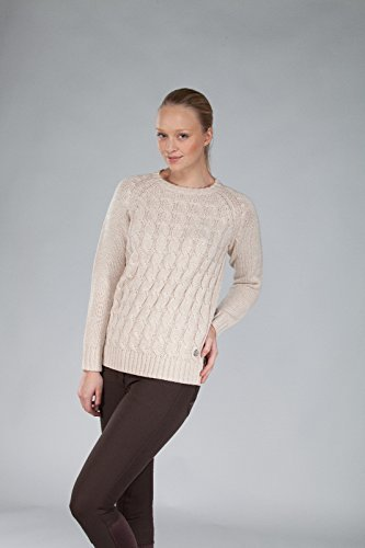 B-Vertigo Horze Dina Damen Strick Pullover, Unisex-Erwachsene, beige, Medium