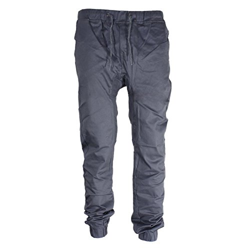semen Herren Jogginghose Sweatpants Baumwoll Sporthose lange Cargohose eng Freizeit Jogging Arbeit Herrenhose Chino Look(Grau)