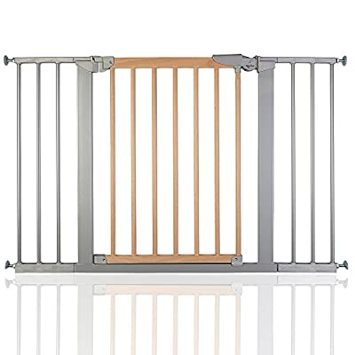 BabyDan True Pressure Avantgarde Baby Safety Stair Gate Silver Beech All Widths (109.7cm-117.1cm)