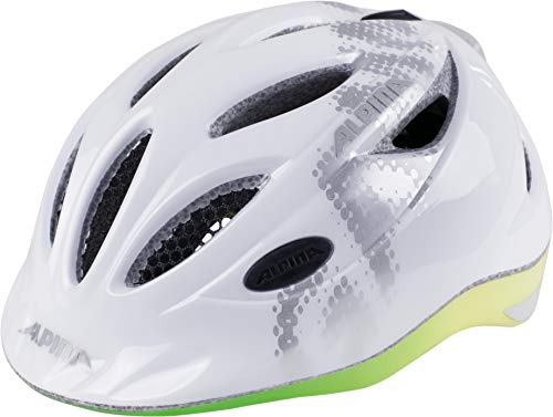 Alpina Kinder Gamma 2.0 Flash Fahrradhelm, White/Rainbow, 46-51 cm