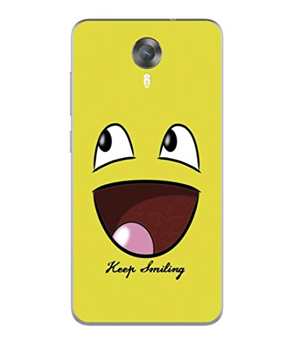 PrintVisa Designer Back Case Cover for Micromax Canvas Xpress 2 E313 (Cartoon Fun Smiley face Icon Cute Abstract Illustration)  available at amazon for Rs.296