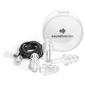 SoundBarren 28dB Hearing Protection Ear Plugs, 1 Reusable Pair