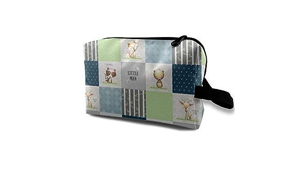 Mignon renard patchwork style toilette sac
