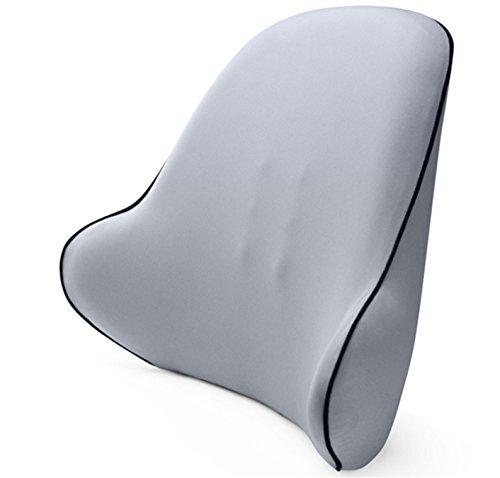 Yeying123 Lordosenstütze Premium Gesamten Hoher Rücken Kissen Büro Schreibtisch Stuhl Autositz Memory Foam Kissen Entlastet Couch Sofa Lesen Ischias Schmerzen,Gray - Gesamt-stuhl-kissen