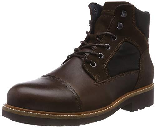 Tommy Hilfiger Herren Active Material Mix Combat Boots, Braun (Coffee Bean 212), 42 EU