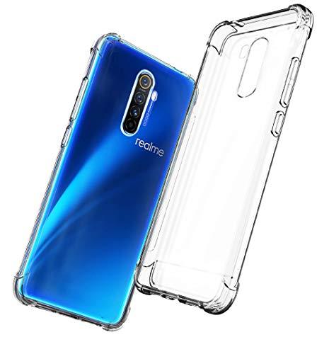 QHOHQ Cover per Realme X2 PRO, Custodia Trasparente Gel Silicone Sottile TPU Silicone Ultra Sottile Case (Trasparente)
