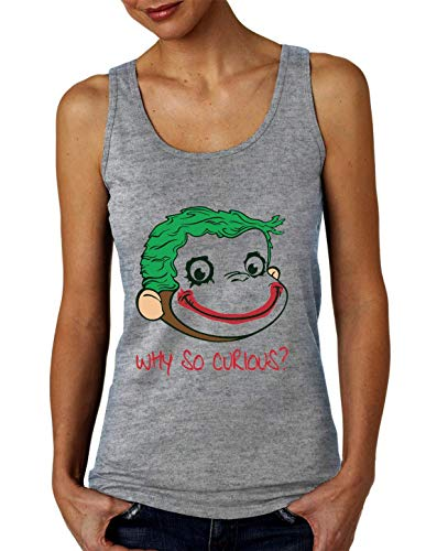 Why So Curious? Funny Monkey Damen Tank Top T-Shirt ()
