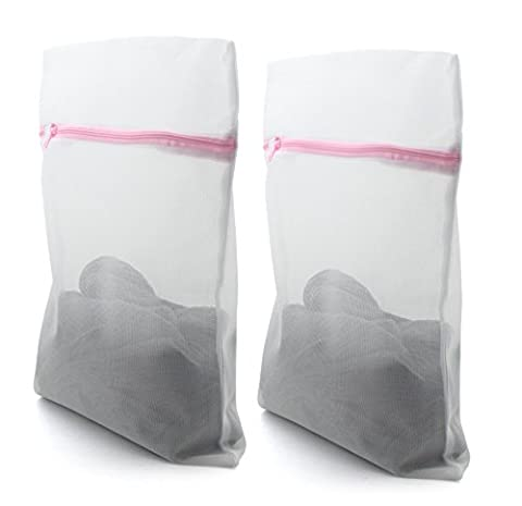 HAND ® Dense Net, Delicate Wash Zipped Laundry/ Washing Fine Mesh Bags - 30x40cm, Buy 1 Get 1 Free Offer! by HAND