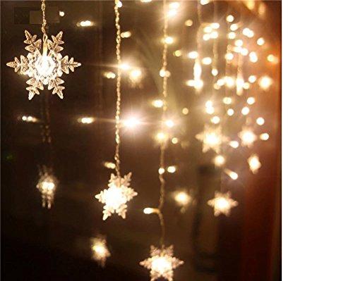 ILOVEDIY 2M 20LED Flocon de Neige Guirlandes Lumineuses Chambre Enfant à Piles Noel Decoration Blanc Froid