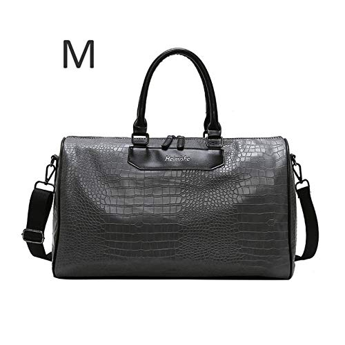 Mujeres Fitness Gym Bag Alligator PU Leather Male