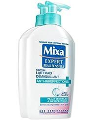 Mixa Expert Peau Sensible Lait Frais Démaquillant Anti-Imperfections 200 ml - Lot de 2