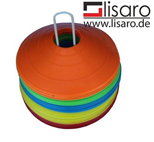 Lisaro Markierungshütchen (50 Stück im Set 5 Farben, 10 pro Farbe)