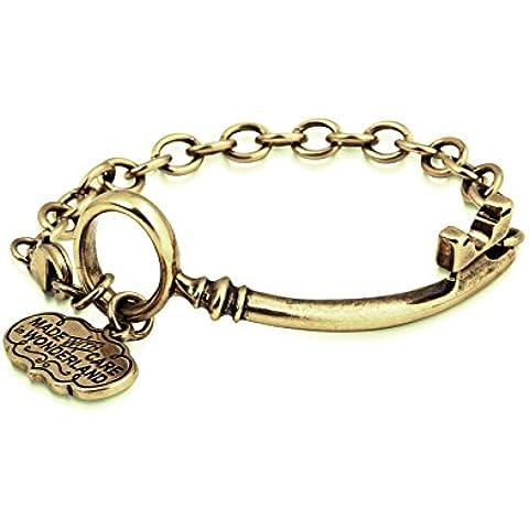 Disney Couture classico alice nel paese delle meraviglie Oro Curvo chiave Bracciale