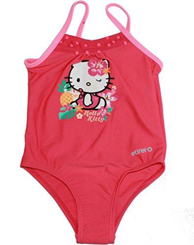 etirel Mädchen Klein Kinder Badeanzug Lily JRS mit Hello Kitty Print pink, Größe:86