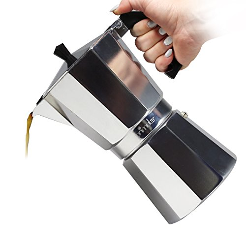 Primula Stovetop Espresso Coffee Maker - For Bold, Full Body Espresso - Easy to Use - Makes 6 Traditional Demitasse Cups - Demitasse Cup