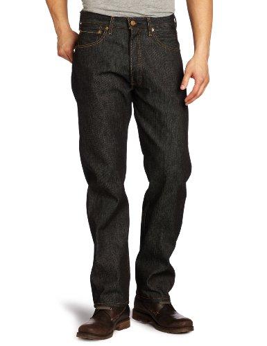 ' S Jeans Levi Männer (Levi's Herren Straight Leg Jeans Gr. 31 W/32 L, Black Stf)