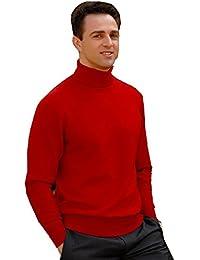 elegance1234 - T-Shirt à manches longues -  Homme Rouge Rouge