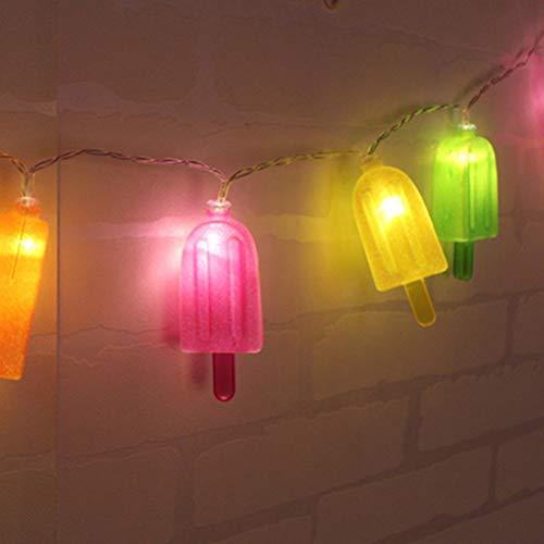 s am Stiel 10 LED Lampen String Licht Set Batterie Opetated BBQ Patio Party Weihnachten Hochzeit Dekoration Kreative Geschenk ()