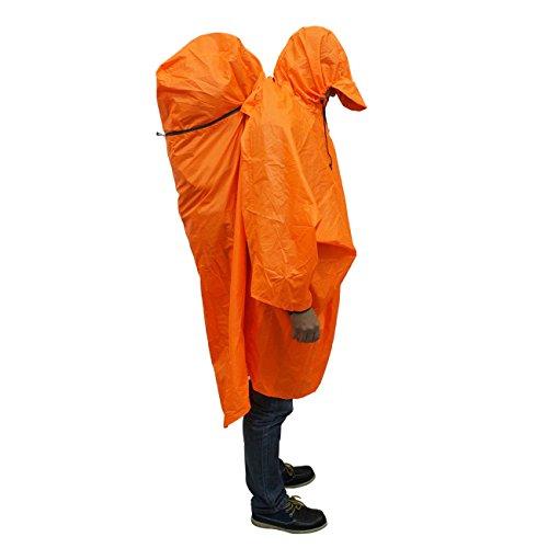 BLUEFIELD Impermeabile pioggia poncho impermeabile copertura per zaino in spalla per Outdoor sport a piedi, (Leggero Pioggia Poncho)