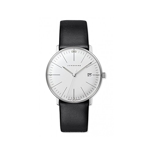 Junghans 047/4251.00 – Wristwatch women's, Leather Strap Black