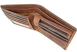 Visconti Wallet - 707 Shield Hunter Leather Oil Tan RFID