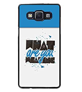 PrintDhaba Quote D-3712 Back Case Cover for SAMSUNG GALAXY A5 (Multi-Coloured)