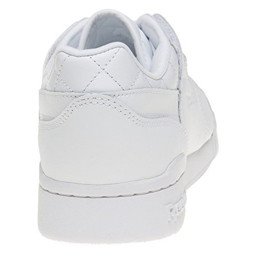 Reebok Workout Lo Plus Quilted Donna Sneaker Bianco Bianco
