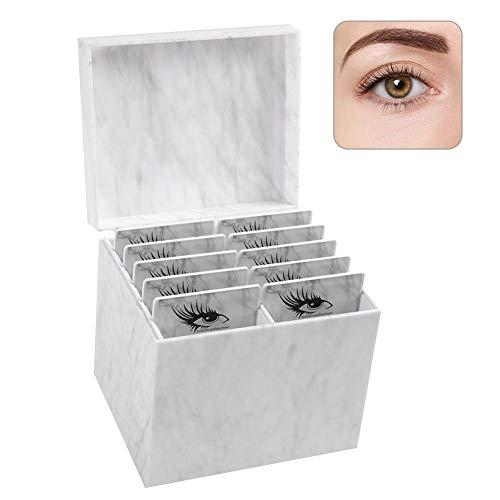 Boîte de rangement de cils, stockage de cosmétiques Organisateur de maquillage Cils Porte-palette de colle Étuis à cils Emballage Boîte de transport de cils, 10 couches, extension de cils (01#)