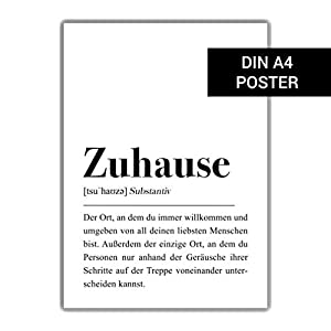 DIN A4 Poster: Zuhause Definition