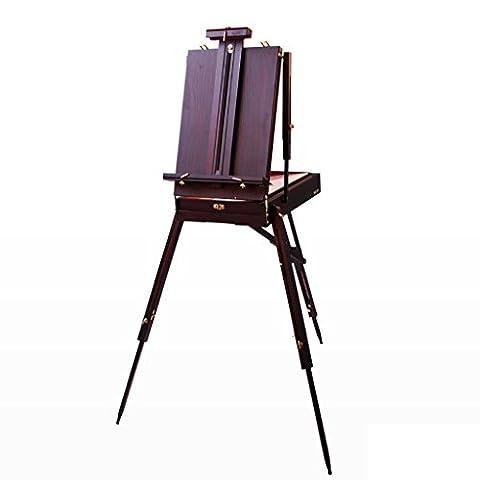 Chevalets Coffre à peinture à l'huile pour tableaux à l'huile portable en bois massif / tablette à peinture à l'huile portative chevalet peinture ( Couleur : 3 )