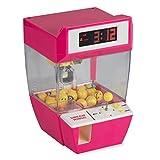 Grinscard Digitalwecker in Candy Grabber Optik mit Kirmesmusik - Pink - Süßigkeitenautomat Zum Spielen und Wecken