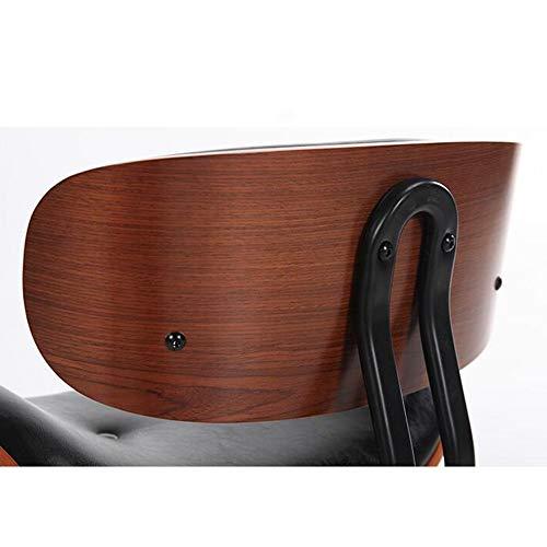 WZC Stühle Moderne Möbel mit Rückenlehne Verstellbarer drehbarer hydraulischer Gaslift Hocker für Friseursalons Maniküre Tattoo Therapie Beauty Massage Spa,Schwarz -