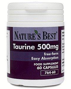 Taurine 500mg- pure, free form state- UK-made, 60 capsules
