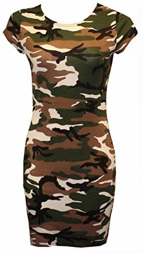 Fast Fashion - Top Batwing V Plaine Cou Bouffant T-Shirt Oversize - Femmes Armee Vert