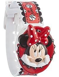 Disney Minie Mouse MIN2 - Reloj digital, para niña, con correa de plástico , color blanco con diseño de Minie