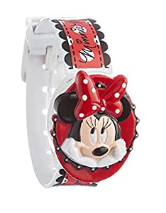 Disney Minnie Mouse Children's Quartz Watch with Multicolour Dial Digital Display and Multicolour Plastic Strap MIN2