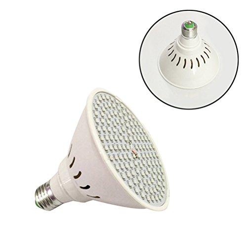 LEDMOMO LED Grow Light, Led Growing Light Bulb per piante da appartamento Verdure Fruit Flowers (Bianco) E27 8W 126