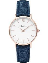 Cluse Reloj Analógico Automático para Mujer con Correa de Cuero – CL30029