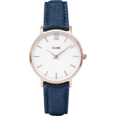 Cluse-Minuit-Rose-Gold-WhiteBlue-Denim-Damenuhr-CL30029