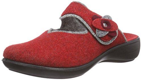 Romika Ibiza Home 304 Damen Pantoffeln Rot (rot-grau 408)